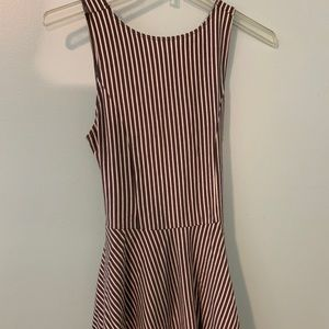 Hollister Gray and White Striped Dress